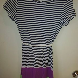 Old Navy Tee Shirt Belted Dress